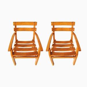 Dänische Mid-Century Kinderstühle aus Holz, 1950er, 2er Set
