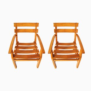 Mid-Century Danish Wooden Children's Chairs, 1950s, Set of 2