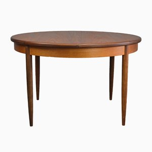 Mid-Century Teak Round Dining Table by Victor Wilkins for G-Plan, 1960s