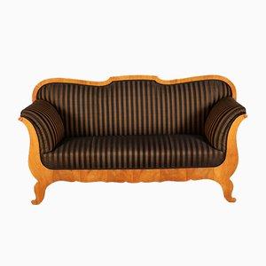 Antikes Biedermeier Sofa aus Kirschholz mit Rosshaarbezug