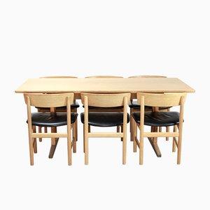 Set de Salle à Manger 3236 en Chêne par Børge Mogensen pour FDB, 1960s