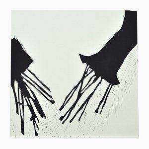 Scandinavian Asashoryu Akinori, Sumo 12 Linocut by Anne Marie Ploug, 2006