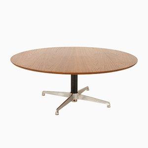 Vintage Danish Round Teak Coffee Table, 1960s
