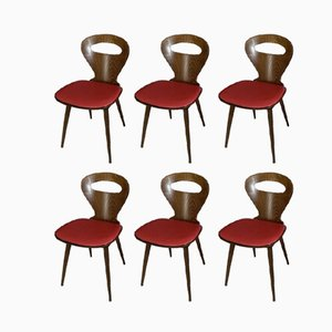 Model Fourmi Bistro Chairs from Baumann, 1960s, Set of 6