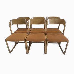 Sillas de comedor modelo Sled vintage de Baumann, años 70. Juego de 6