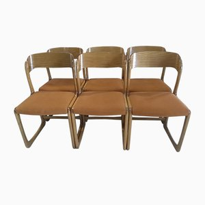 Vintage Model Sled Dining Chairs from Baumann, 1970s, Set of 6