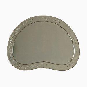 Espejo italiano con marco decorado, años 50