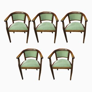Art Deco Armchairs, 1930s, Set of 5