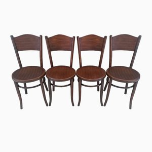 Antique Bistro Chairs from Fischel, 1900s, Set of 4