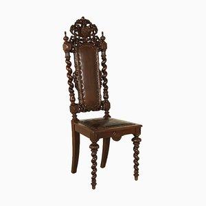 Antiker deutscher Stuhl aus Eiche