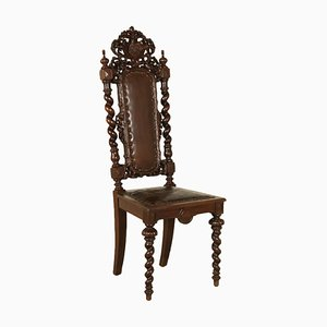 Antique German Oak Chair