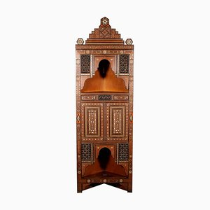 Antique Italian Inlaid Corner Cabinet