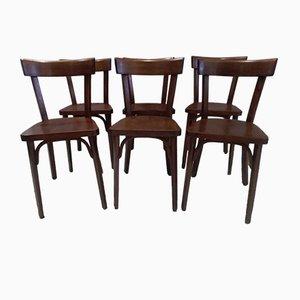 Chaises de Bistrot Vintage de Baumann, 1960s, Set de 6