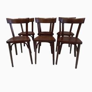 Vintage Bistro Chairs from Baumann, 1960s, Set of 6