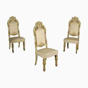 Antike italienische Stühle, 3er Set