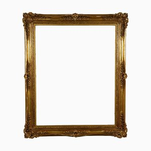 Antique Italian Carved Gilded Frame