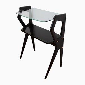 Kleiner italienischer Nachttisch aus Mahagoni, 1950er