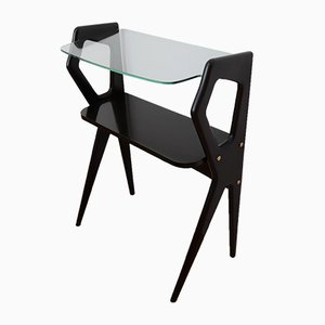 Petite Table de Chevet en Acajou, Italie, 1950s
