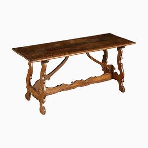 Antiker italienischer Tisch aus Nussholz