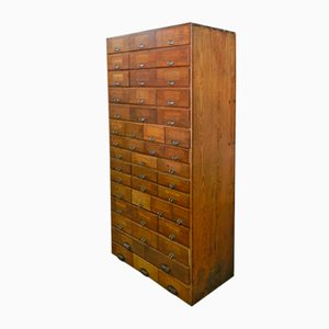 Mid-Century French Pine Bank of Drawers, 1950s
