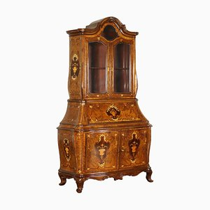 Antique Italian Rosewood Serpentine Secretaire