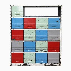Industrielle modulare Schubladen, 1970er