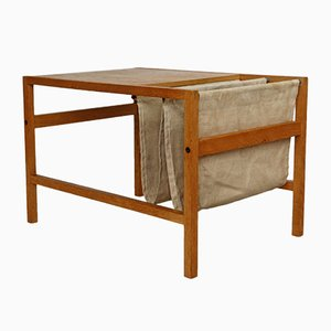 Scandanavian Oak Coffee Table with Magazine Rack, 1970s