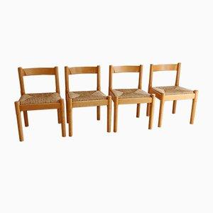 Carimate Esszimmerstühle von Vico Magistrett für Habitat, 1970er, 4er Set
