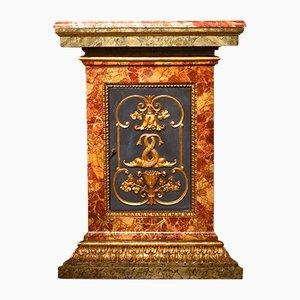Meuble d'Angle Antique en Or & en Bois Peint, 18ème Siècle