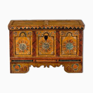 18th-Century Tyrolean Painted Wedding Chest