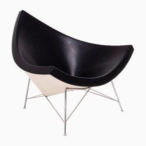 Schwarzer Coconut Stuhl aus Leder von George Nelson für Vitra, 2003