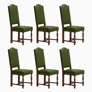 Early 20th Century French Dining Chairs, Set of 6
