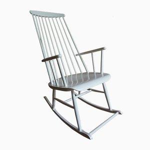 Rocking Chair Mademoiselle Vintage à Dossier Haut par Ilmar Tapiovaara, 1950s