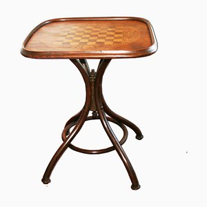 Table de Jeu Antique en Bois Courbé par Michael Thonet