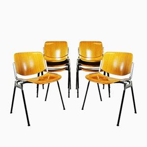 Chaise de Salle à Manger DSC Axis106 Mid-Century par Giancarlo Piretti pour Castelli, 1960s
