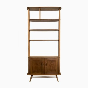 Elm and Beech Bookcase or Room Divider by Lucian Ercolani for Ercol, 1960s