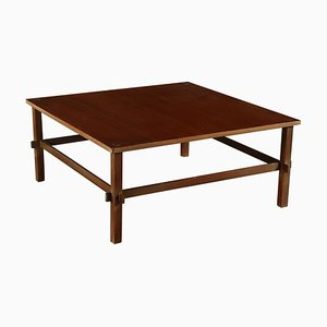 Vintage Italian Mahogany Veneer Coffee Table, 1960s