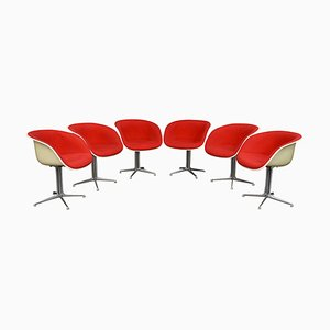 La Fonda Chairs by Charles & Ray Eames for Herman Miller, 1970s, Set of 6