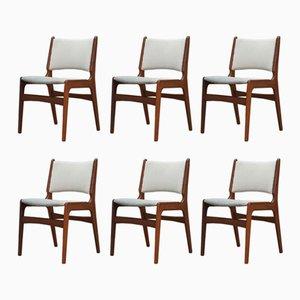 Vintage Esszimmerstühle aus Teak von Henning Kjaernulf, 1960er, 6er Set