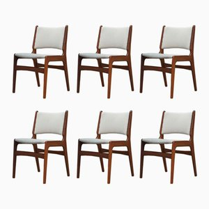 Vintage Teak Dining Chairs by Henning Kjaernulf, 1960s, Set of 6