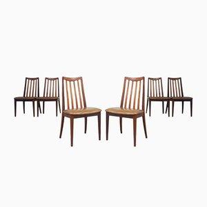 Sedie da pranzo Mid-Century in teak di G-Plan, anni '70, set di 6