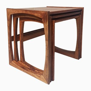 Mid-Century Teak Quadrille Nesting Tables from G-Plan, 1970s