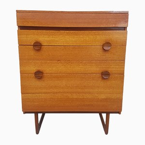 Danish Teak Split-Handle Chest of Drawers, 1970s