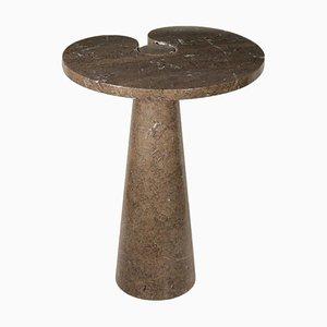 Mesa de centro italiana vintage de mármol de Angelo Mangiarotti para Skipper, años 60