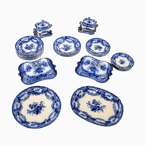 Set di piatti antichi in porcellana di C&B Hack Wood
