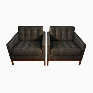 Walnut Lounge Chairs by Florence Knoll Bassett for Knoll, 1950s, Set of 2