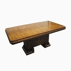 Art Deco Rosewood Burl Table