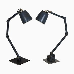 Industrial Anglepoise Table Lamps from Memlite, 1950s, Set of 2