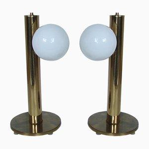 Lámparas de mesa danesas, años 60. Juego de 2