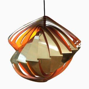 Lampada Conch vintage di Louis Weisdorf per Lyfa, anni '60